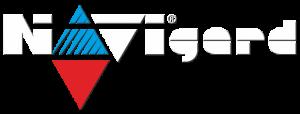 Логотип Навигард белый с тенью